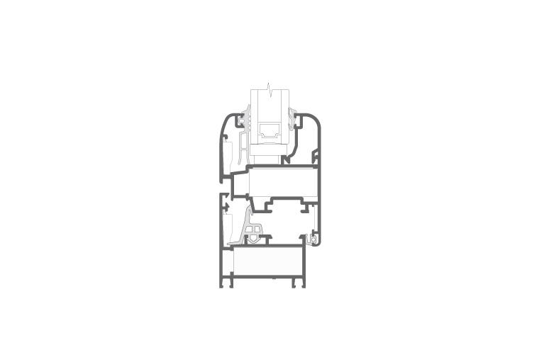 Infissi in alluminio – cx450 (sezione)