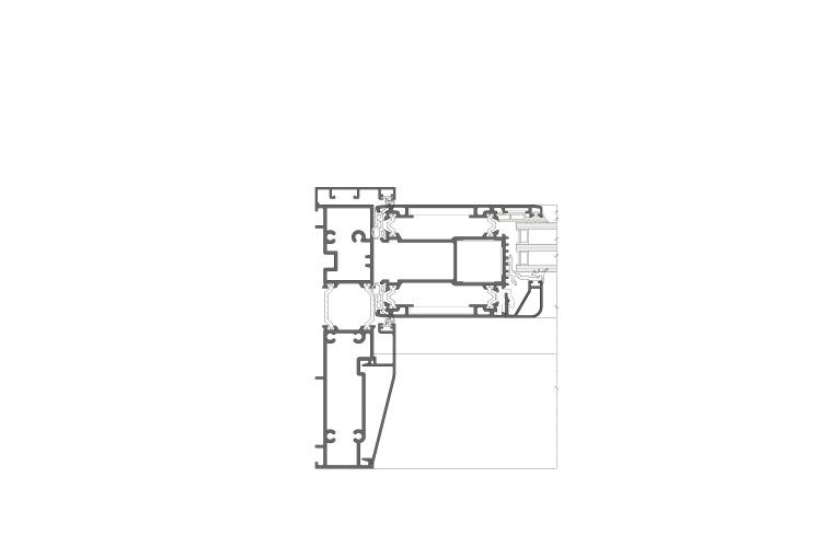 Infissi in alluminio – hx160 (sezione)