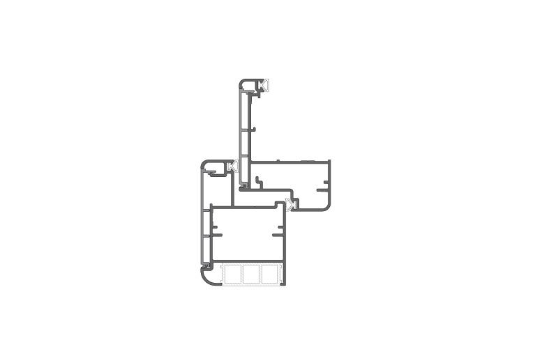 Infissi in alluminio – pc90 (sezione)