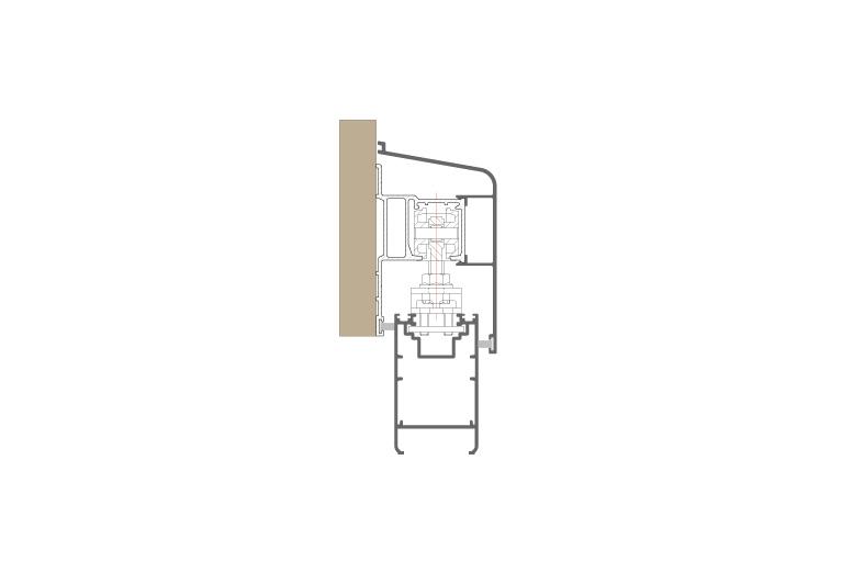 Infissi in alluminio – ps450 (sezione)