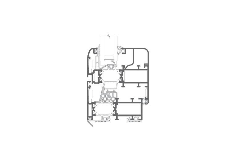 Infissi in alluminio - rx700 (sezione)