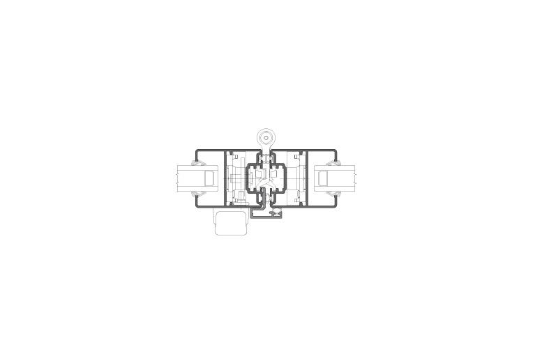 Infissi in alluminio – vl450 (sezione)