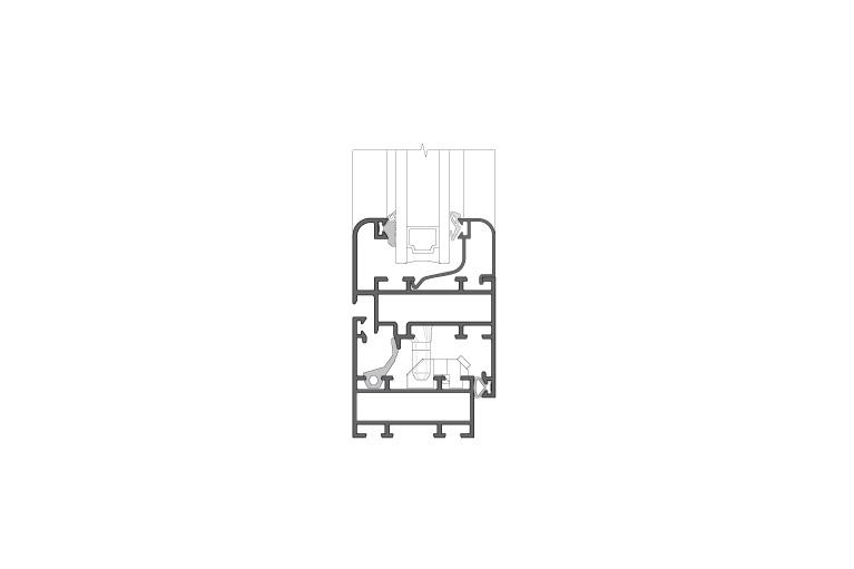 Infissi in alluminio – rx450 (sezione)