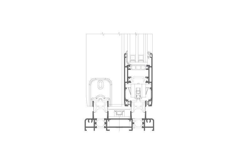 Infissi in alluminio - sx110 (sezione)