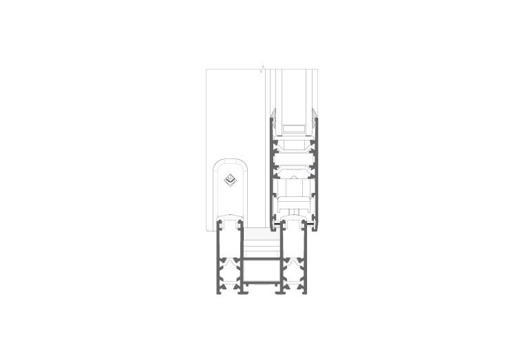 Infissi in alluminio - sx700 (sezione)