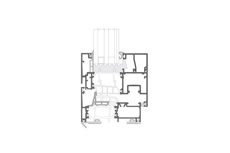 Infissi in alluminio - cx850ph (sezione)