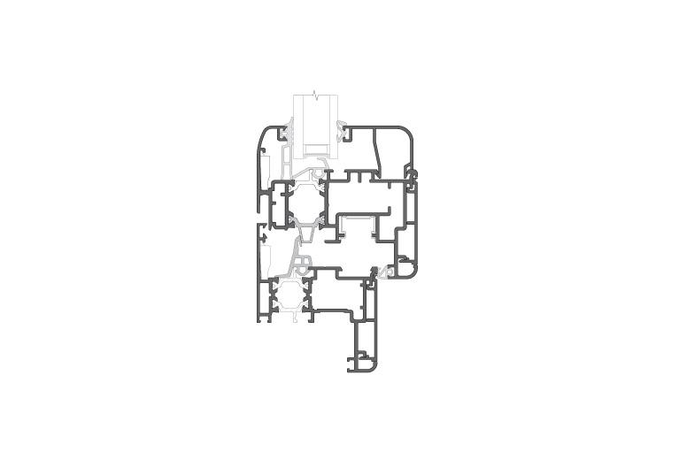 Infissi in alluminio - cx Elegance (sezione)