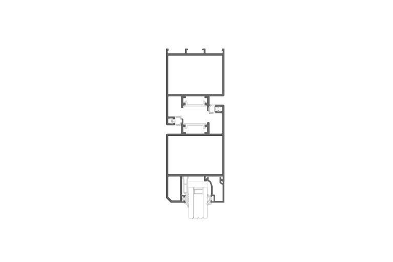 Infissi in alluminio - df600 (sezione)