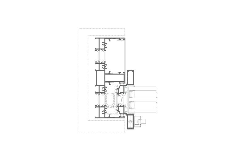Infissi in alluminio - mx166minimal (sezione)