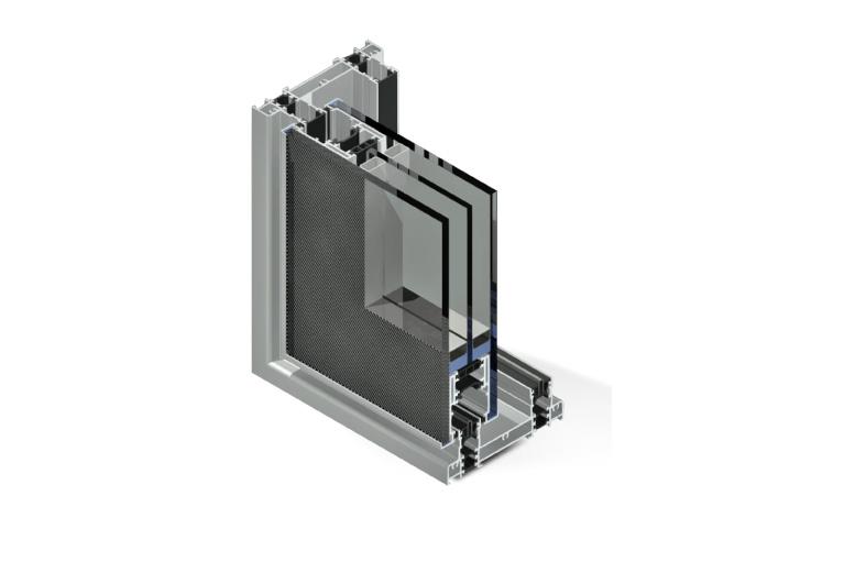 Infissi in alluminio - sx130 minimal